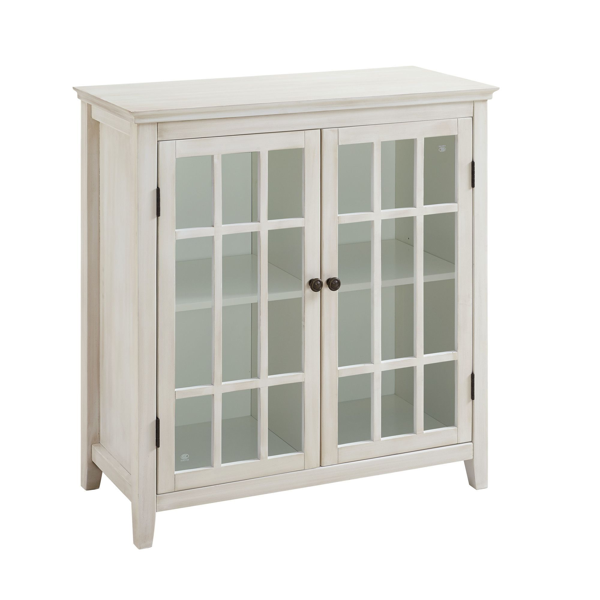 Best Naples Park Antique 2 Door Accent Cabinet Glass Cabinet 640 x 480
