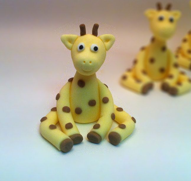 Sugar+Giraffe+Cake+Topper++Cake+or+cupcake+by+craftyrosy+on+Etsy,+$14.00