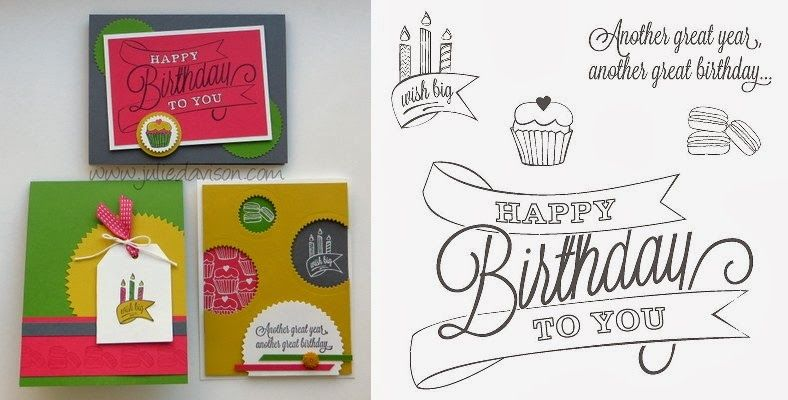 """Julie's Stamping Spot -- Stampin' Up! Project Ideas by Julie Davison: """"Stamp of the Month"""" Club"""