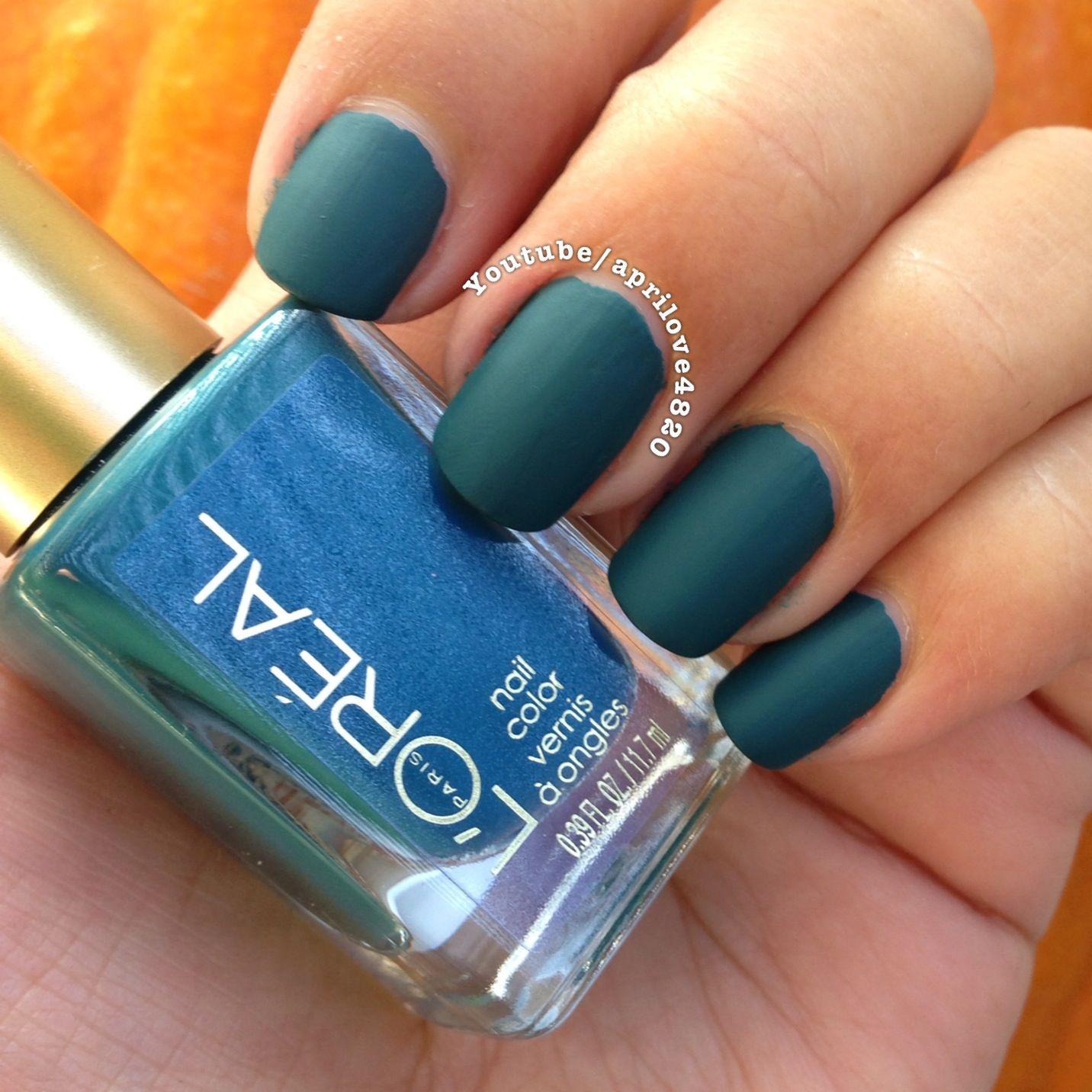 Loreal nail polish #nails #nail polish #matte #matte nail polish #nail polish swatch #nails 2013 #nails for fall #nails for fall 2013