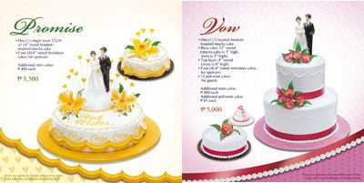 goldilocks wedding cakes philippines promise wedding cake package and vow wedding cake package 14794