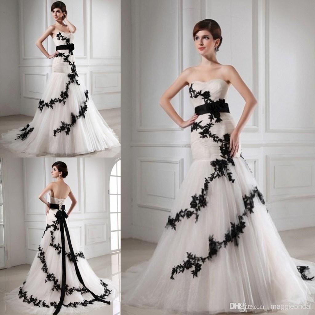 Wholesale mermaid wedding dresses buy luxury appliques tulle white