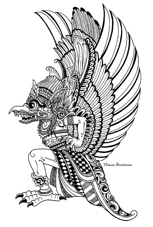 Sejarah Gambar Ilustrasi : sejarah, gambar, ilustrasi, Garuda, Kencana, Gambar, Ukiran,, Gambar,, Sejarah