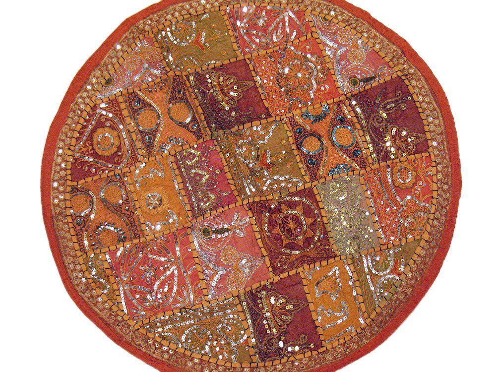 Floor Cushion Orange Decor Big Round Chair Sofa Circle Pillow 24in