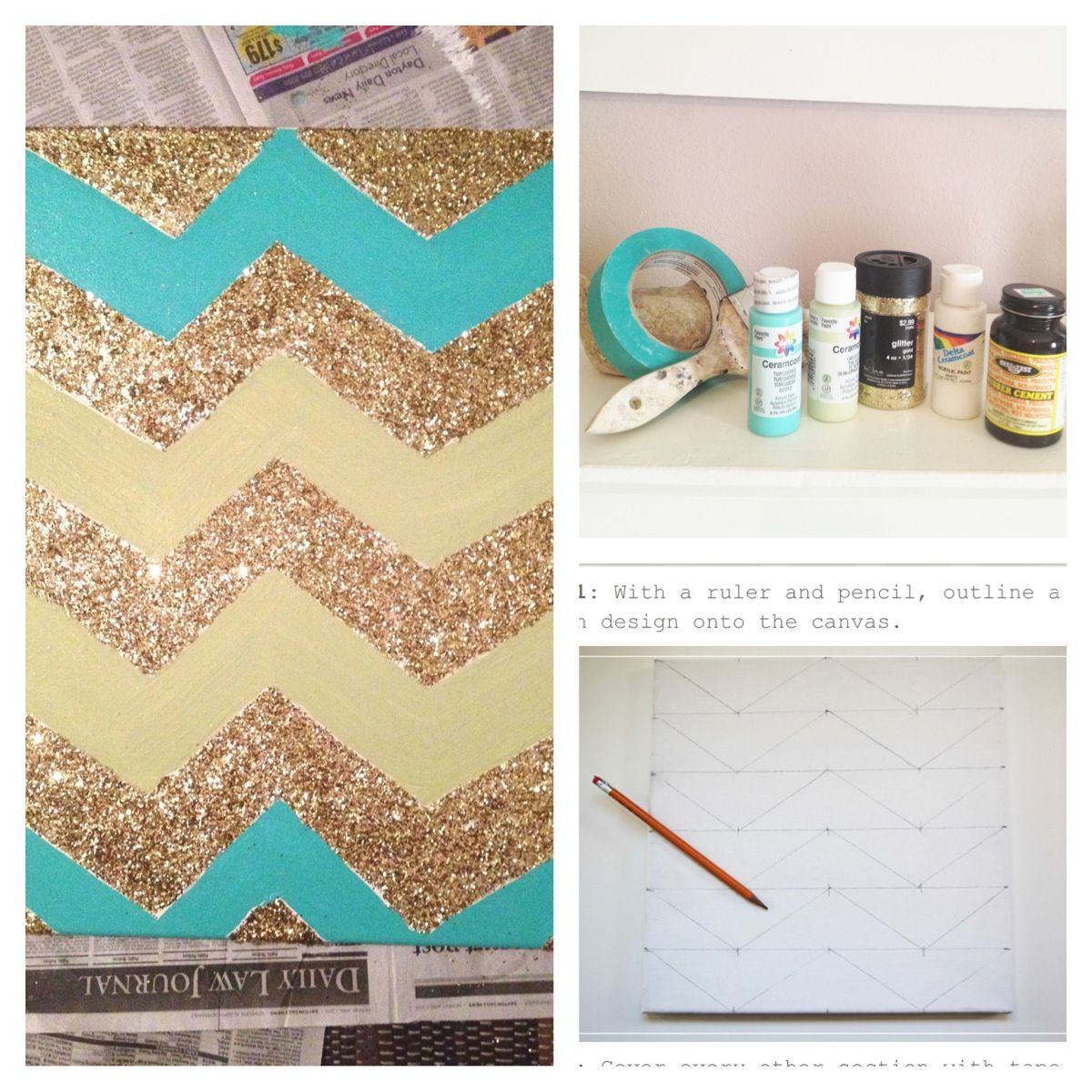 Chevron DIY wall art. I\'m so doing this for my room! | DIY ...