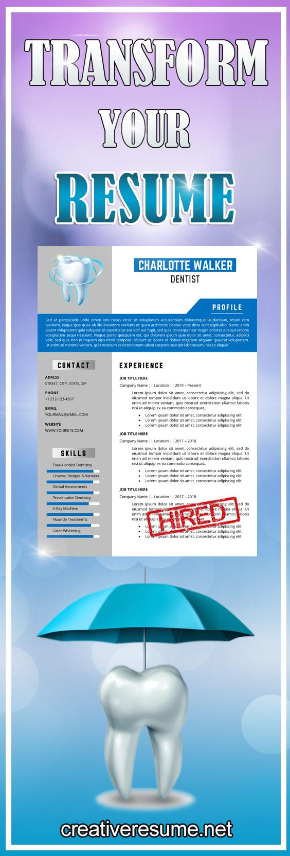 Senior Dentist Resume Template For Word Dental Assistant Etsy In 2021 Dentist Resume Dentist Dentist Career