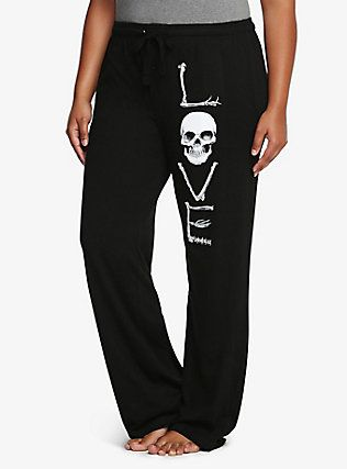 Love Skull Sleep Pants, RICH BLACK
