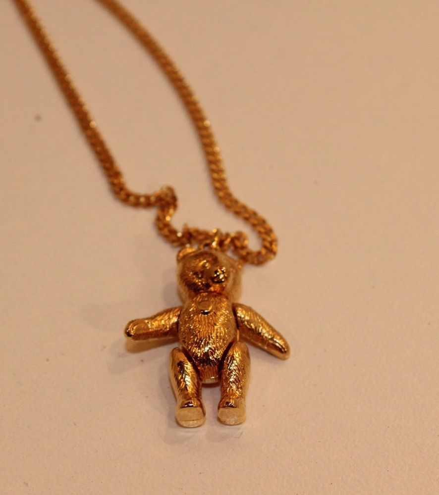 1a9acb5ded7b31 Steiff Teddy Bear NECKLACE JOINTED, MOVING ARMS/ LEGS & HEAD 18