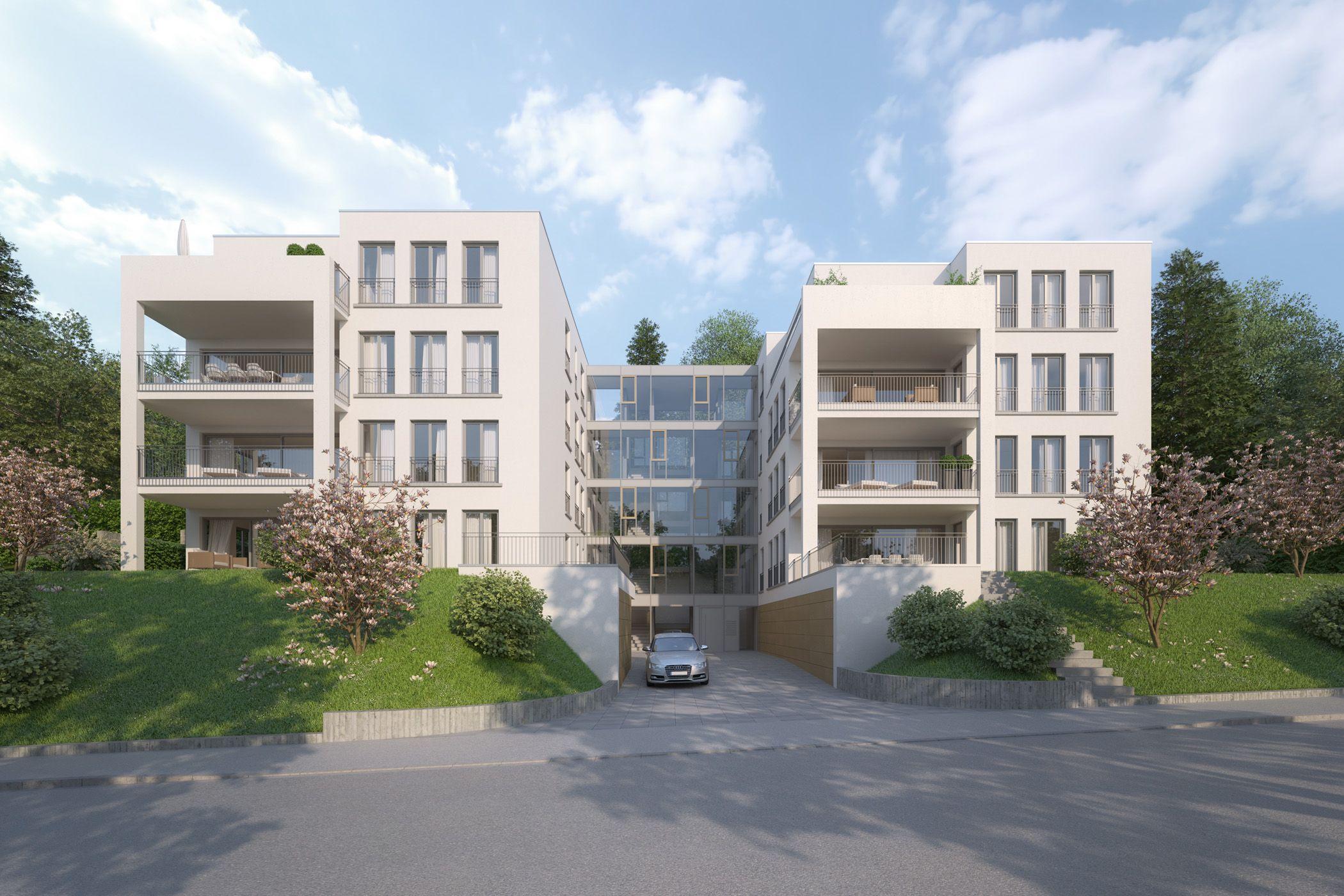 Zwei Mehrfamilienhäuser in Baden-Baden   Raumlabor3 - Architekturvisualisierung aus Karlsruhe