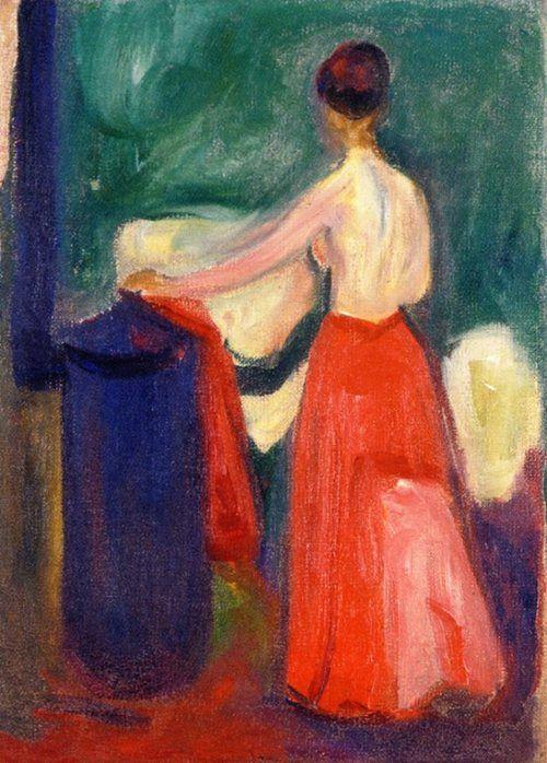 Edvard Munch (Norwegian, 1863-1944) - Nude with Red Skirt, 1902