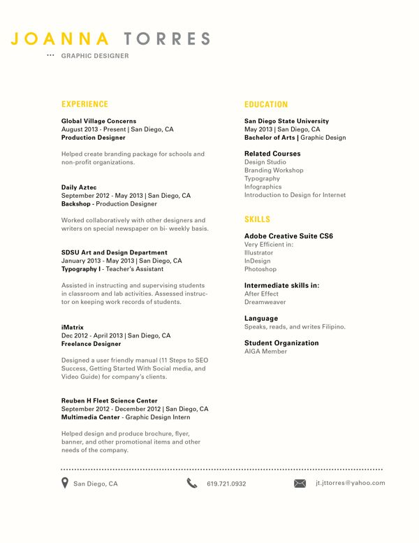 Clean, simple look! Creative Resume Design, Resume Style, CV - professional resume examples 2013
