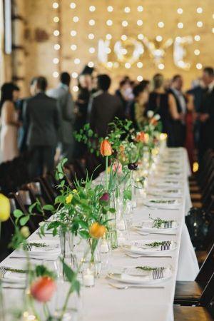 Stylish Green Building Wedding Ruffled Centerpieces Pinterest