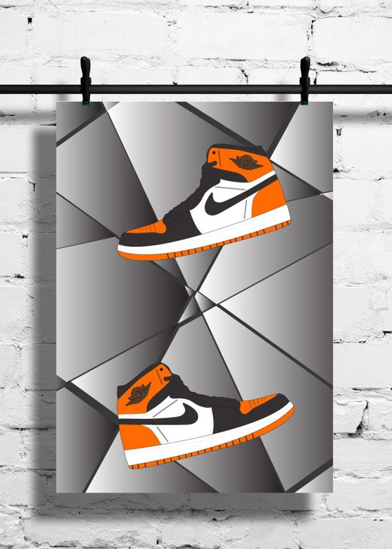 c70ab8bc6785eb Nike Air Jordan 1 Shattered Backboard Poster by SneakerheadArtwork ...