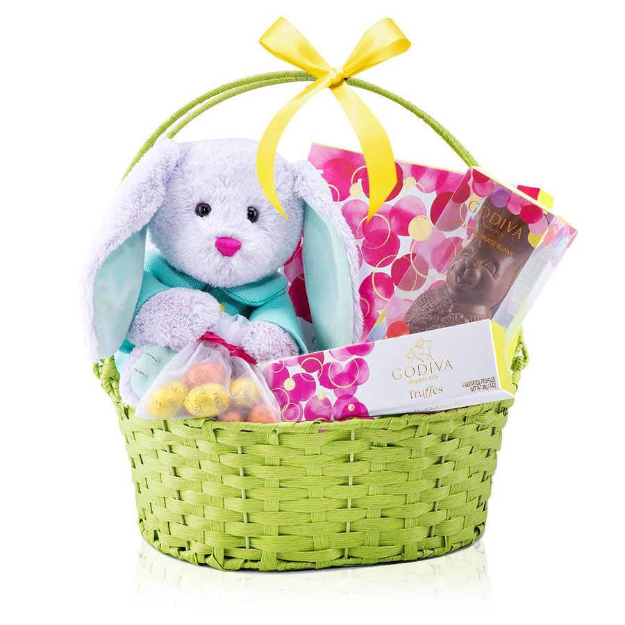 Order a vip gourmet gift basket of godiva easter chocolates for featuring the collectible 2016 godiva easter bunny spring truffles a chocolate easter bunny and more this is the perfect family easter gift negle Images