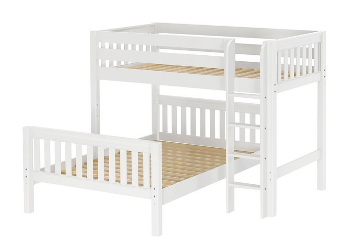 Top Kids Twin Over Full Bunk Beds L Shaped Beds Bunk Bed With