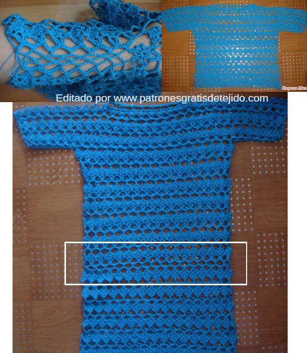 Cómo tejer vestido de encaje crochet paso a paso   mis prendas ...