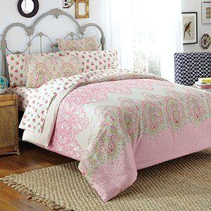 Amazon Com Free Spirit Victoria Comforter Set Full Pink
