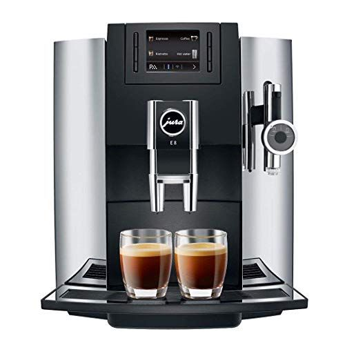 Jura 15097 E8 Espresso Coffee Machine, 28 cm x 35 cm x 35.1 cm, Chrome #espressomaker