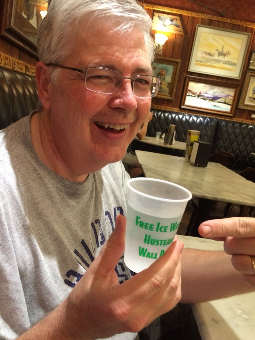 Wall Drug Ice Water. So exciting!