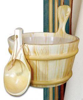 Wooden Sauna Bucket or Ladle
