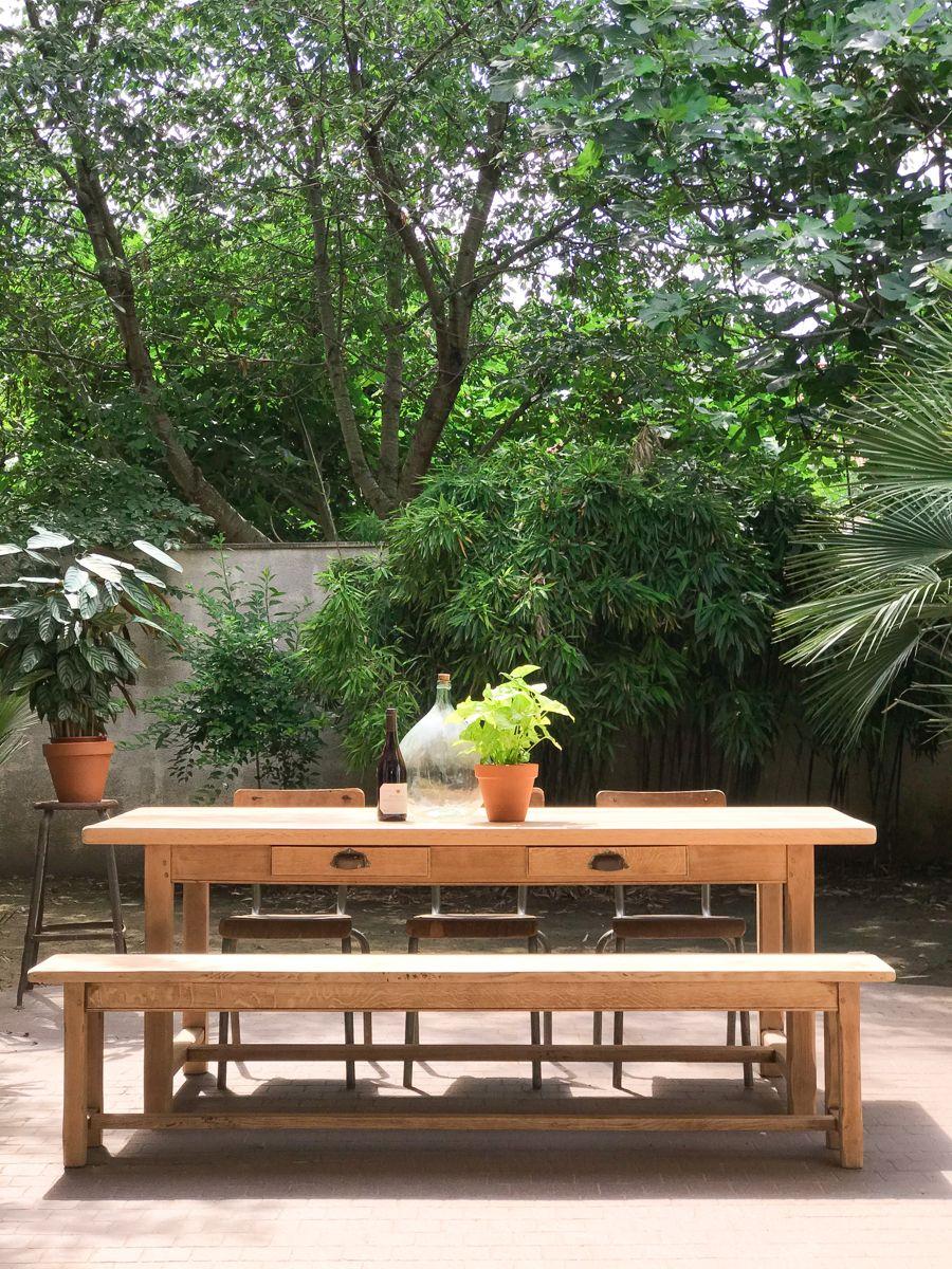 Table de ferme chêne massif « Les Toliers »   Table de ferme ...