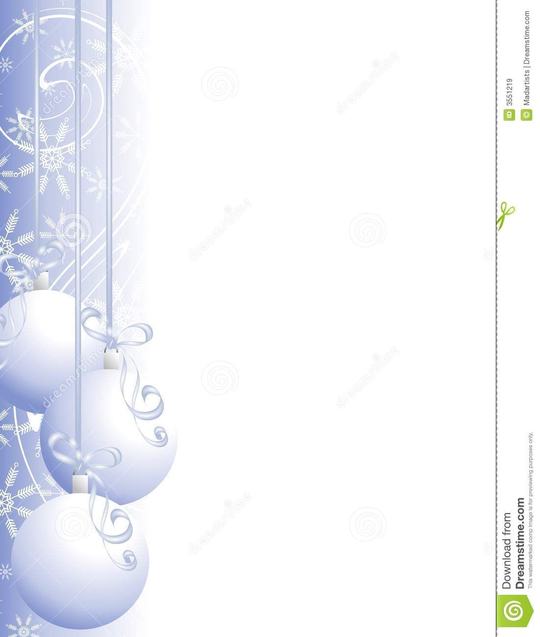 Christmas Ornaments Border 2 Royalty Free Stock Images