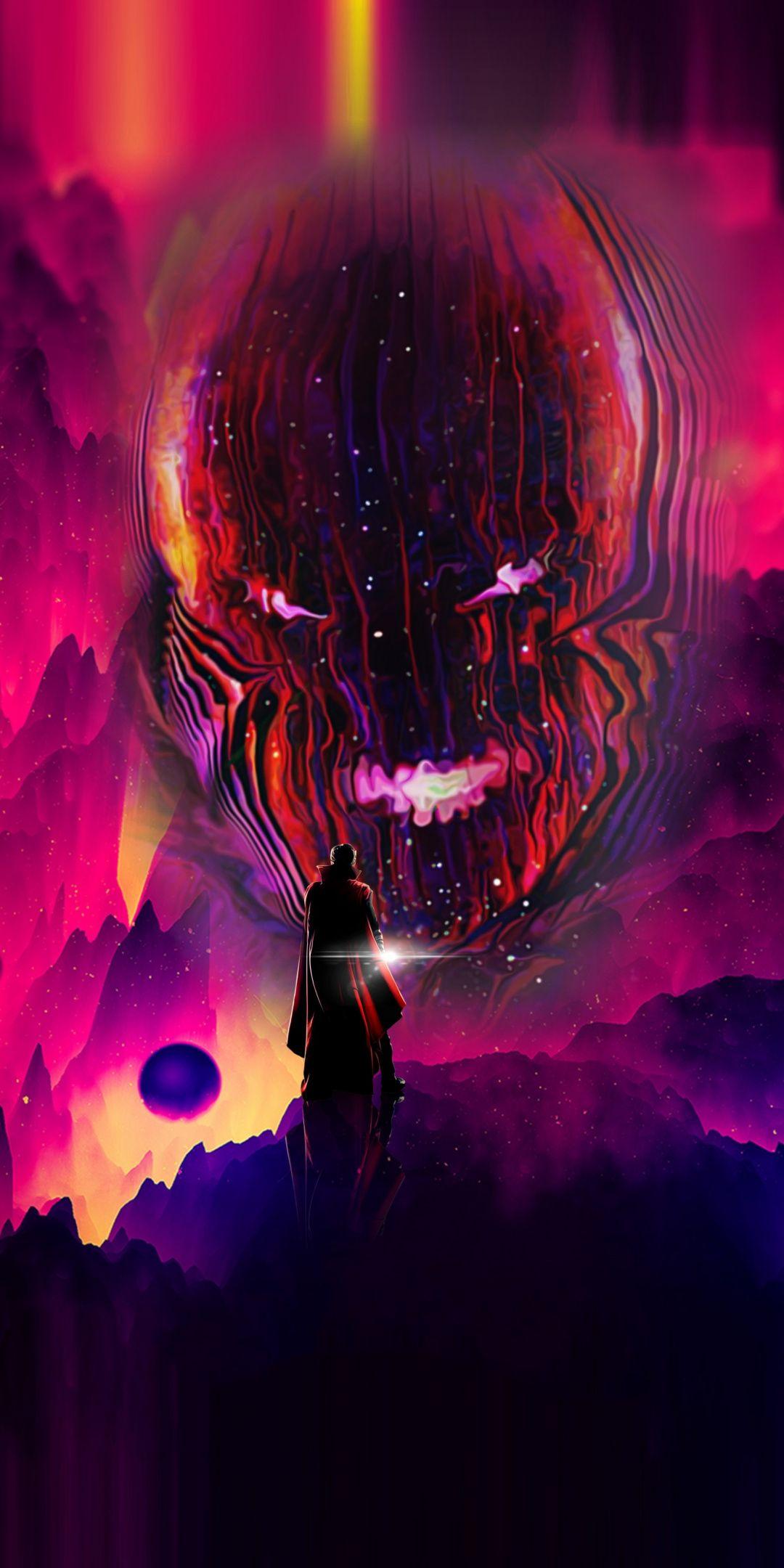 Doctor Strange, fan art, dark dimension, art, 1080x2160