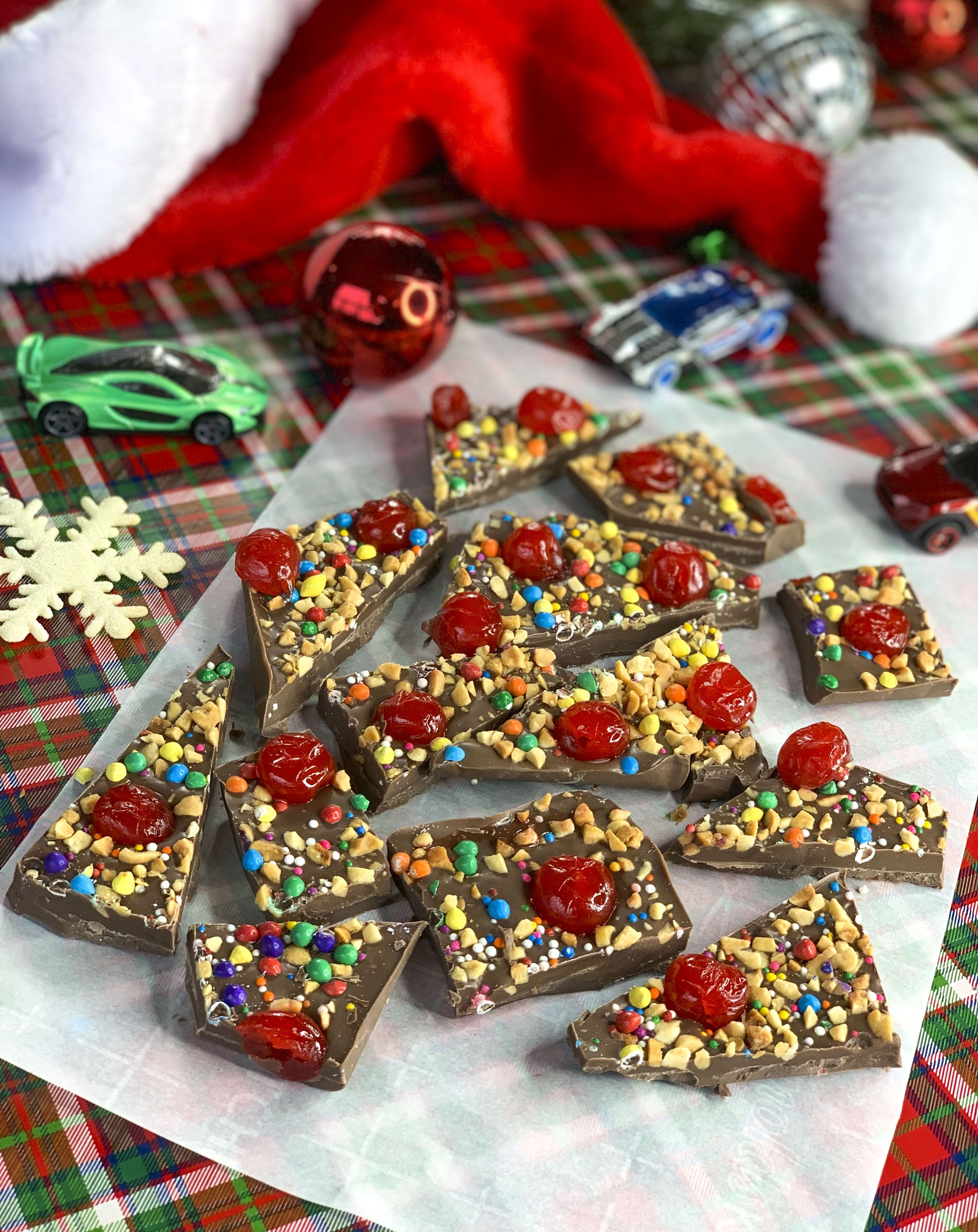 This Home Alone Themed Chocolate Bark Has Milk Base Topped With Crushed Peanuts Also Rh