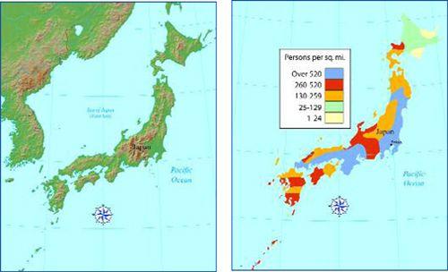 Physical Features Of Japan Japan Pinterest Japan - Japan elevation map