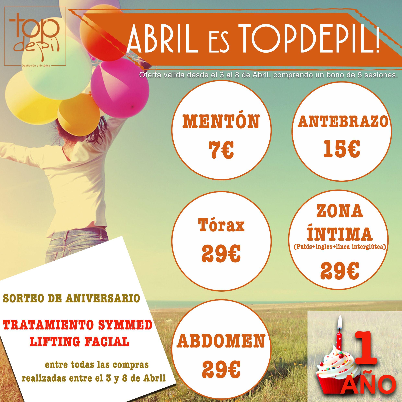 Topdepil va a cumplir un año con vosotros, y para celebrarlo, lanzaremos increíbles ofertas y descuentos para celebrarlo! Os damos un adelanto.