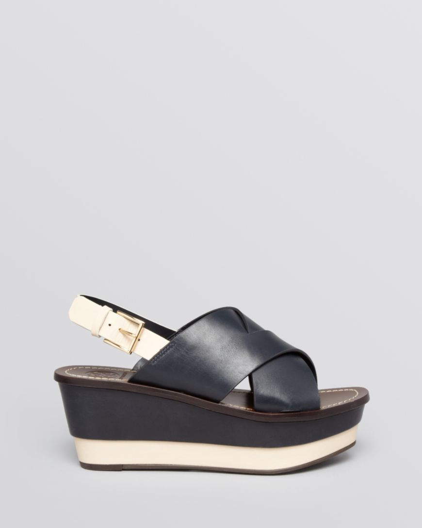 Tory Burch Leather Slingback Sandals visit sale online free shipping amazing price shopping online cheap online pE5Zc7