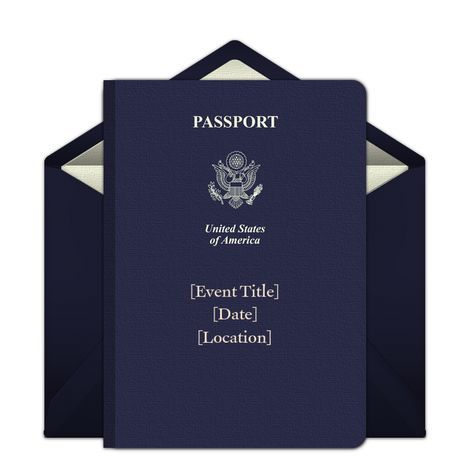 Customizable Passport Online Invitations Easy To Personalize And Send For A Party Punchbowl