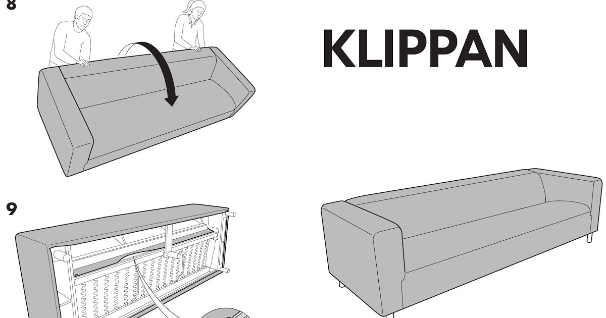 Ikea Klippan 4 Seat Sofa Cover Assembly Instruction Ikea Beddinge Sofabed Assembly Instructions Ikea Stora Loft Bed Canopy I In 2020 Ikea Sofa Ikea Sofa Bed Sofa Bed