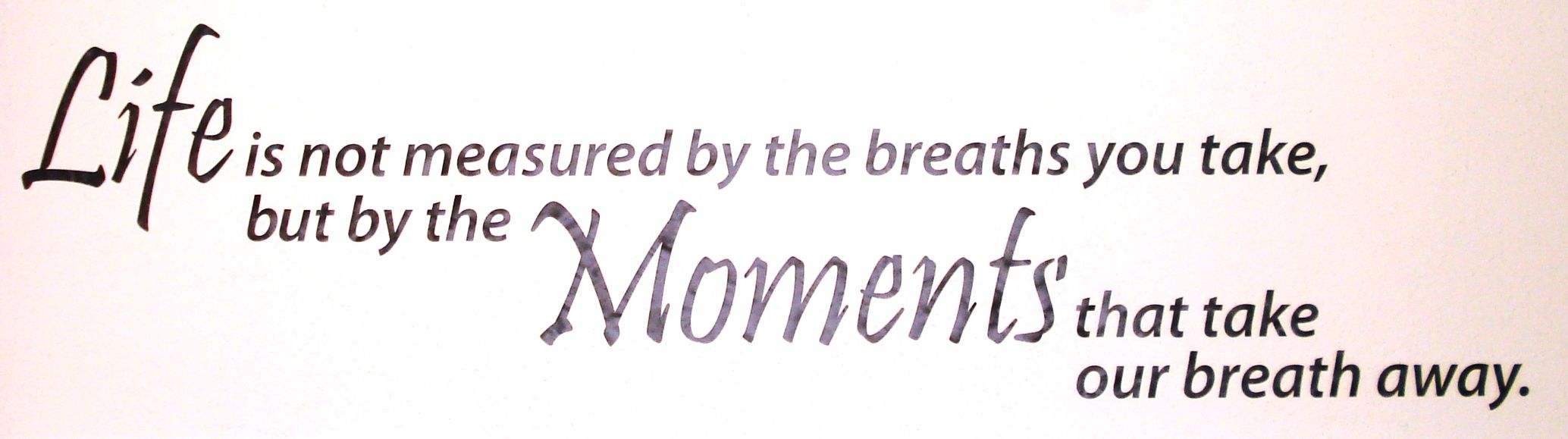 Life Is Not Measured By The Breaths Quote Life Is Not Measuredthe Breaths You Take Butthe Moments