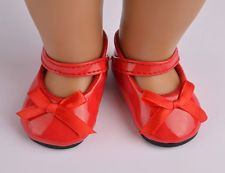 nice Hot selling fashion red shoes for 18inch American girl doll party b412