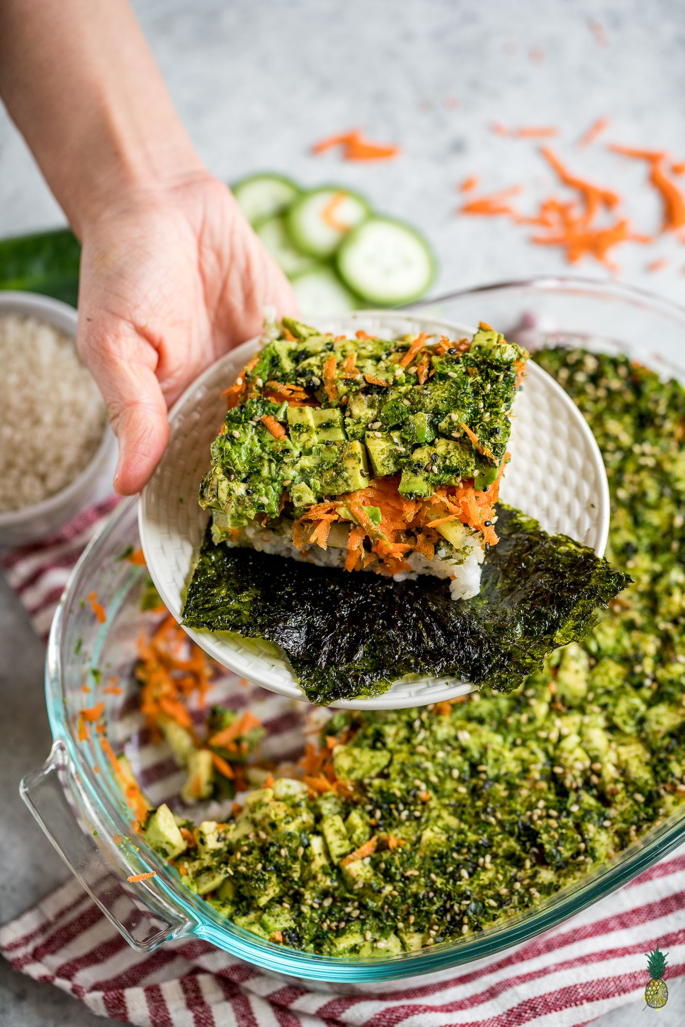 Easy Vegan Sushi Casserole 6 Ingredients