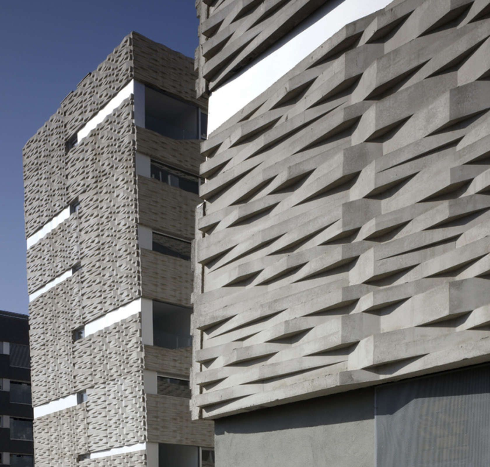Concrete Building Facade : Take the rough with smooth textured concrete