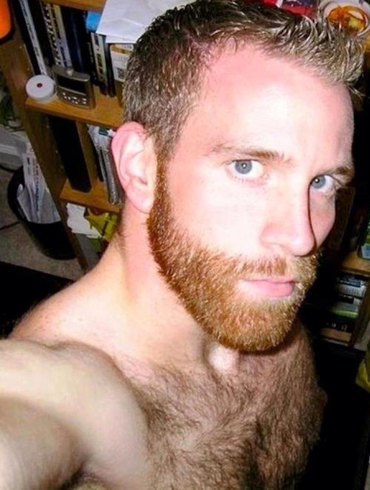 All cum on my beard