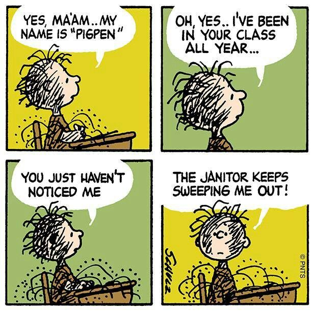 Pig Pen - If youu0027re going to be an ecologist, youu0027ve got to stir - another word for janitor