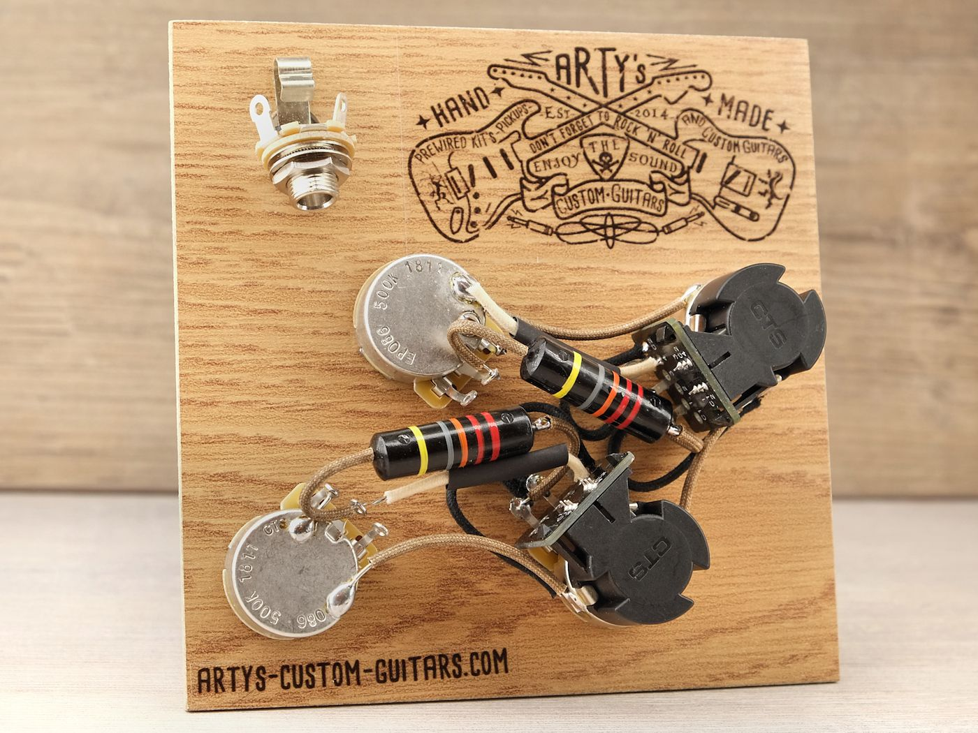 Artys Custom Guitars Les Paul Coil Splitting Prewired Harness Pre Wired Wiring Assembly Kit Gibson Bumble Bee Black