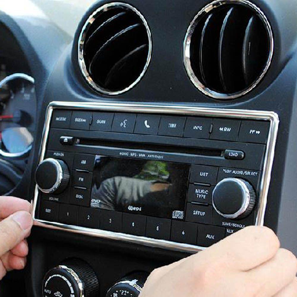 console dashboard CD panel button knob decorative gps cover