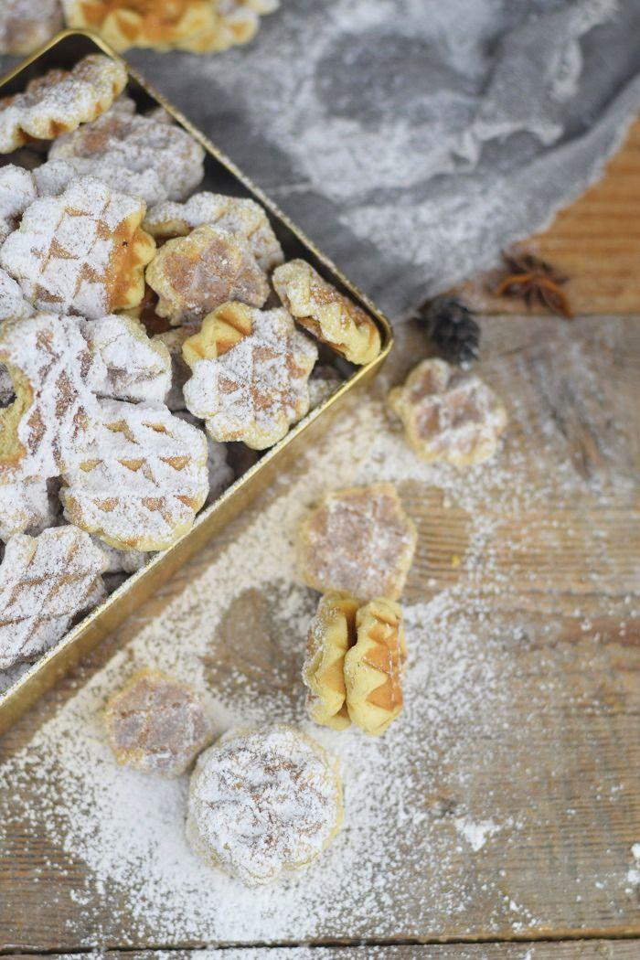 Spekulatius - Waffelplätzchen - Speculoos Waffle Christmas Cookies | Das Knusperstübchen