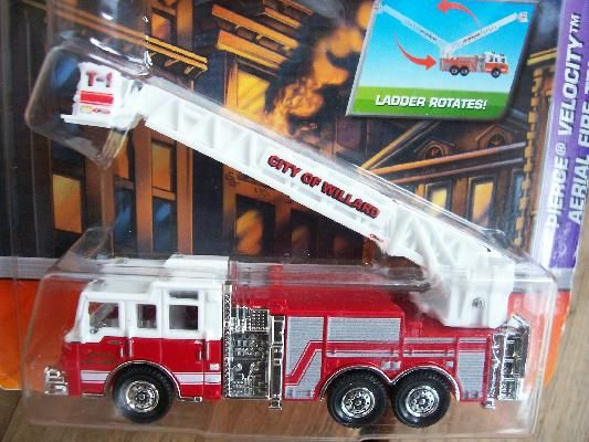 MATCHBOX 2009 PIERCE VELOCITY  AERIAL FIRE TRUCK   FREE SHIPPING!!