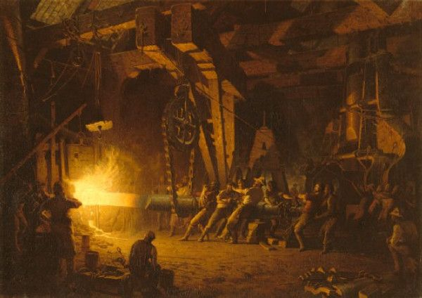 John Ferguson Weir (1841-1926) - Forging The Shaft