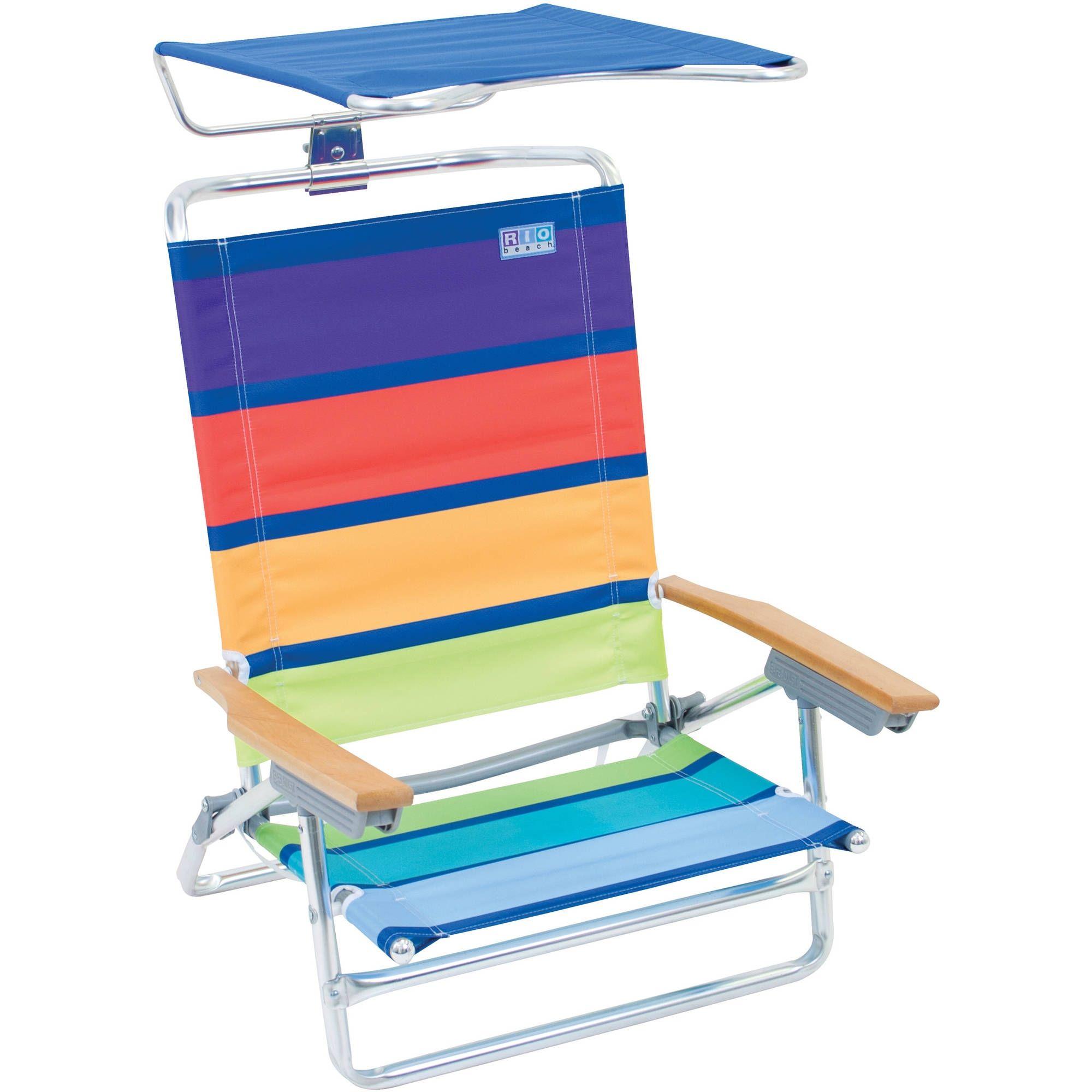 Rio Beach Folding Chair With Canopy