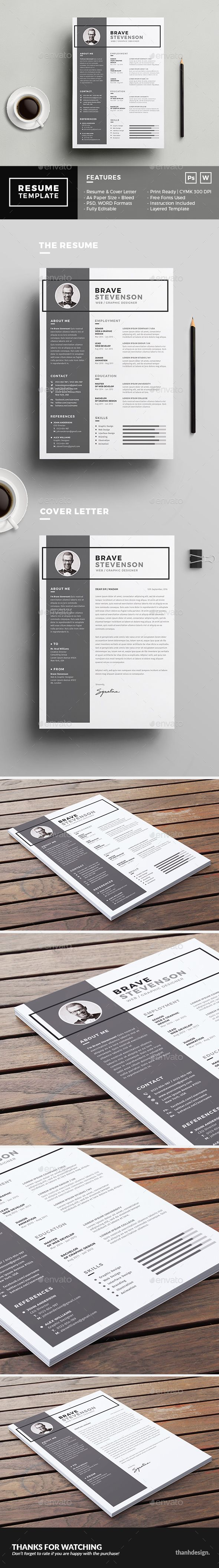 The Resume Template PSD, MS Word. Download here: https ...