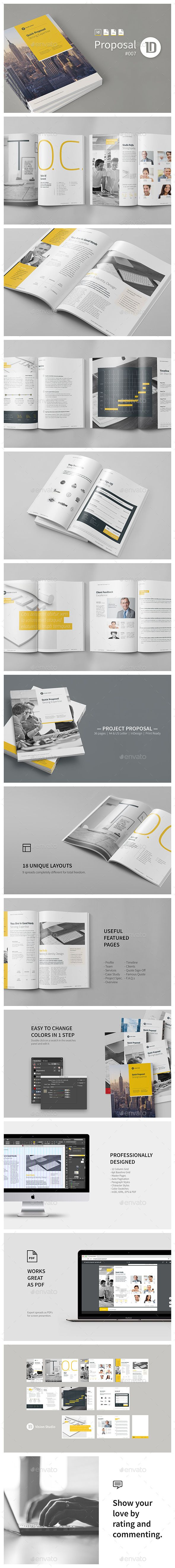 Quick Project Proposal   Project Proposal Proposals And Template
