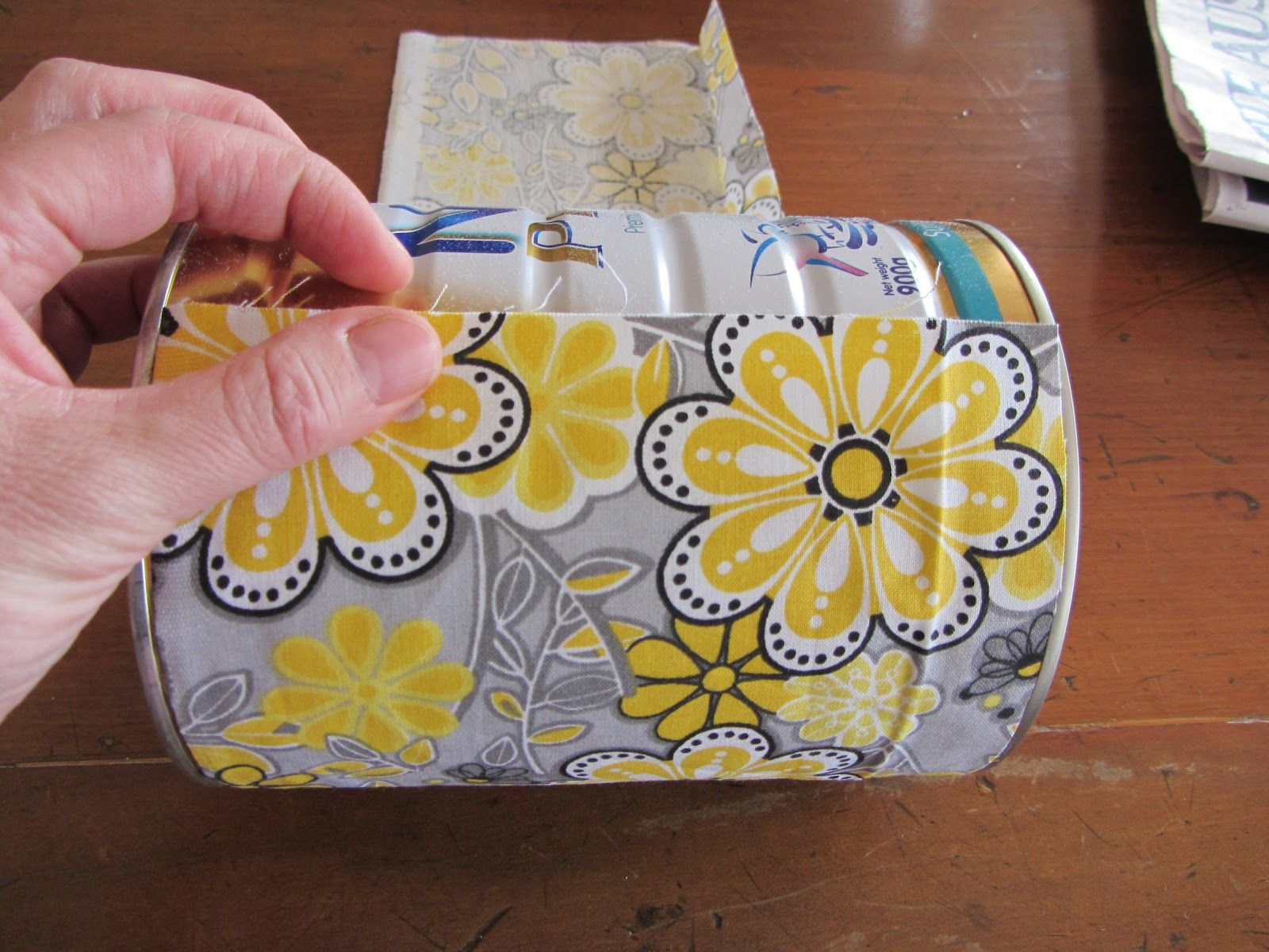 thom haus handmade: Fabric Covered Formula Tins for Children's Craft Things