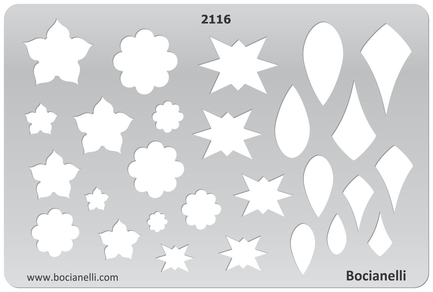 Design Template Stencil for Drawing Drafting Jewellery Making