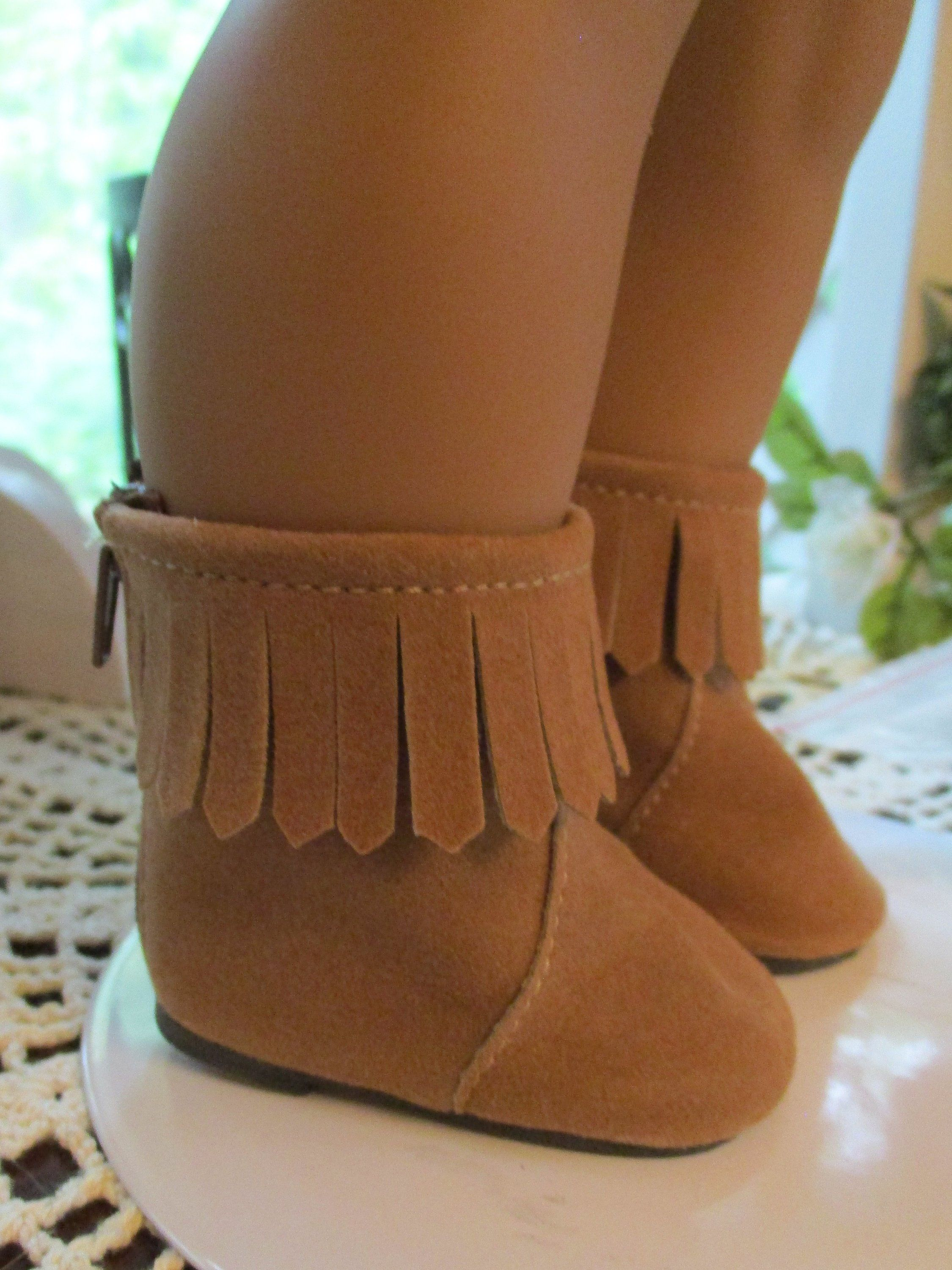 ab7e6477627 Brown Moccasins to fit your American Girl Doll Shoes by Emmakate0 on Etsy